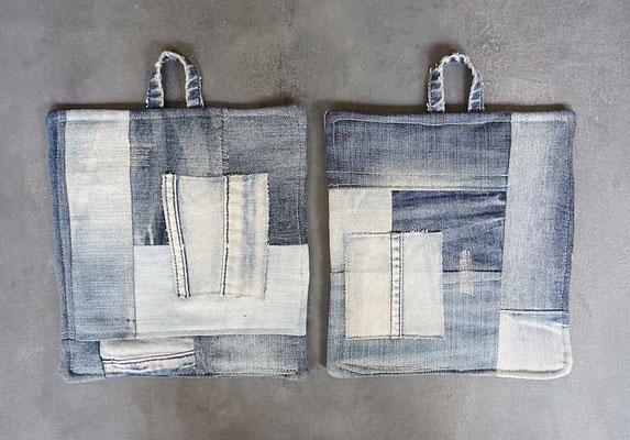 patchwork-Topflappen aus alten Jeans (develloppa)