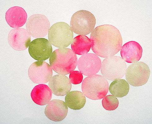 frühlingsfrisch - Aquarellfarbe auf Papier (develloppa)