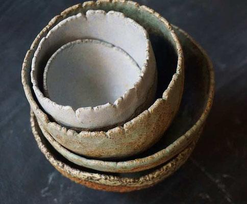 handgetöpferte Daumenschälchen - develloppa