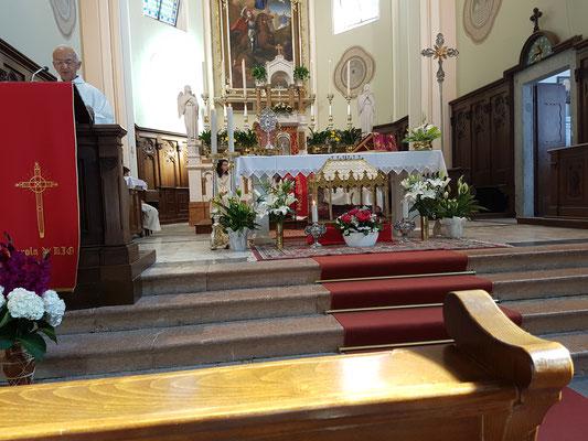 Chiesa Castel Condino luglio 2018 - Celebrazione S.Eugenia -