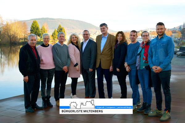 Kandidaten für den Stadtrat der Bürgerliste Miltenberg