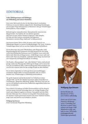 Bürgerzeitung der Bürgerliste Miltenberg