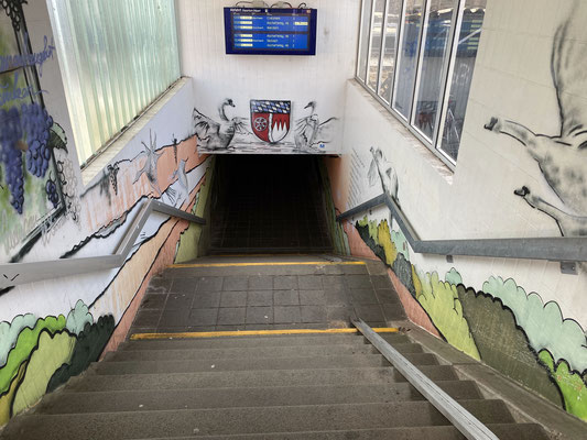 Miltenberg Nord Bahnhof Eingang Unterführung