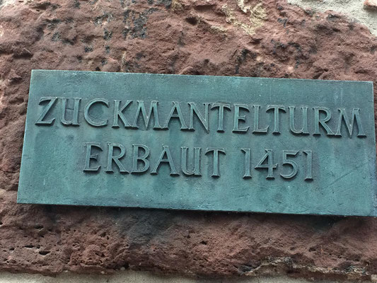 Bild 1 Zuckmantelturm in Miltenberg