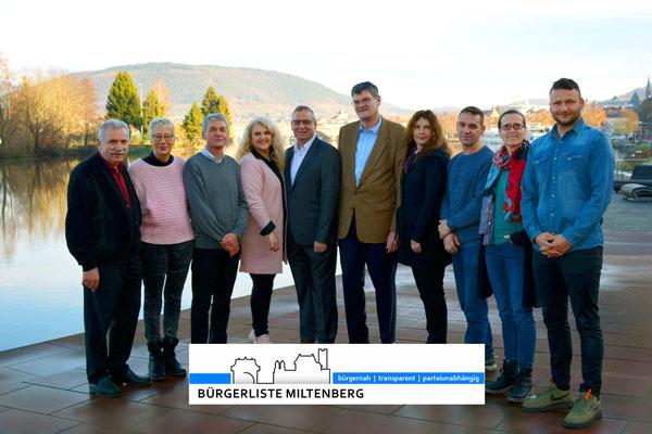 Kandidaten der Bürgerliste Miltenberg
