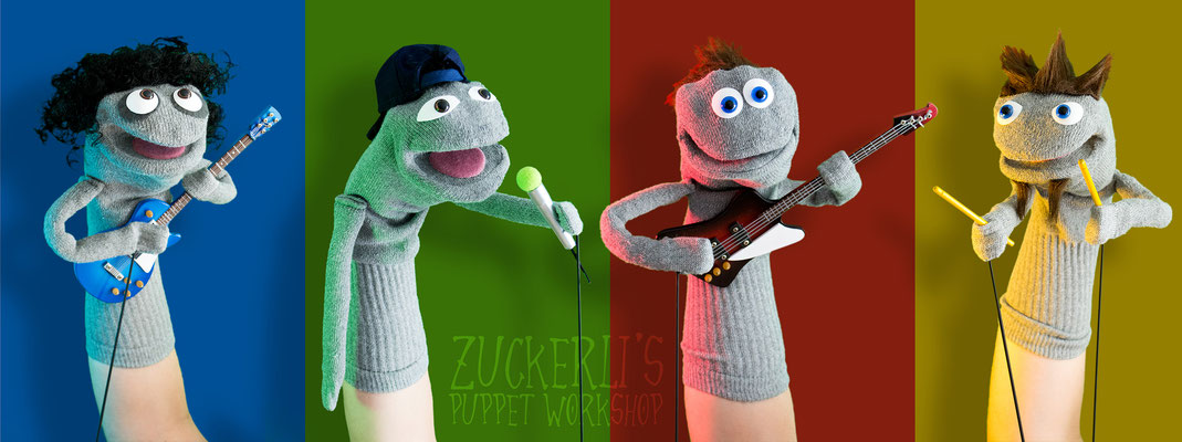 Rockband / Sockenpuppen