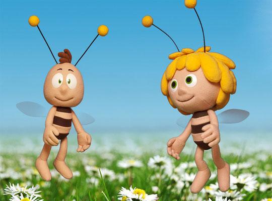 Biene Maja und Willi / Stabpuppen