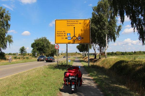Schnellstraße kurz vor Niederlande