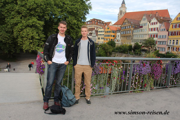Lukas und ich in Tübingen