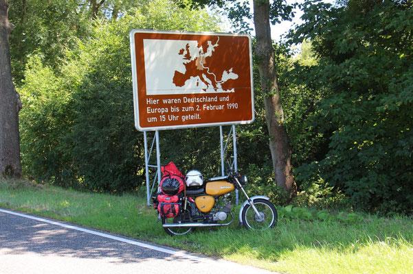 Innerdeutsche Grenze bei Höhnebach