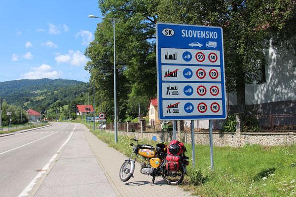 Grenze zur Slowakei