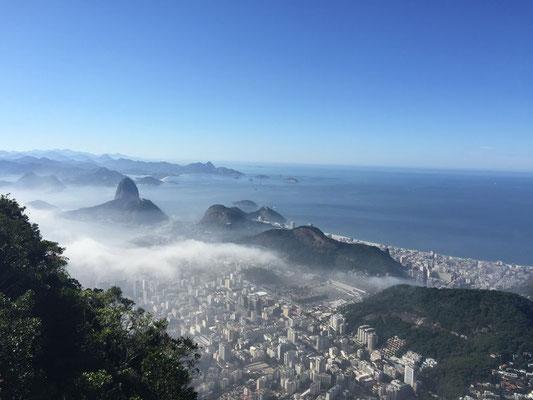 Blick auf Rio de Janeiro vom Corcovado