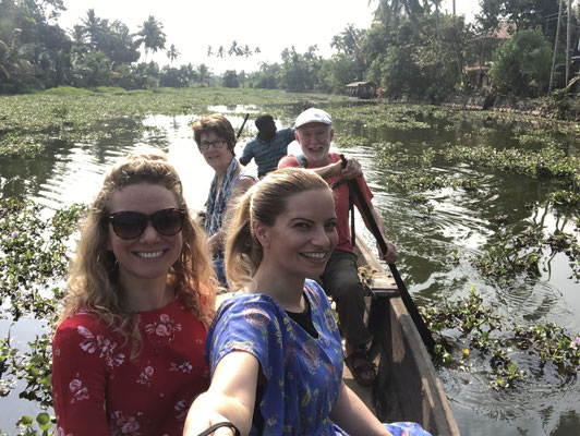 Selfie Backwaters, Indien