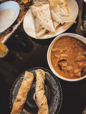 Frühstück im Mango Kerala Home