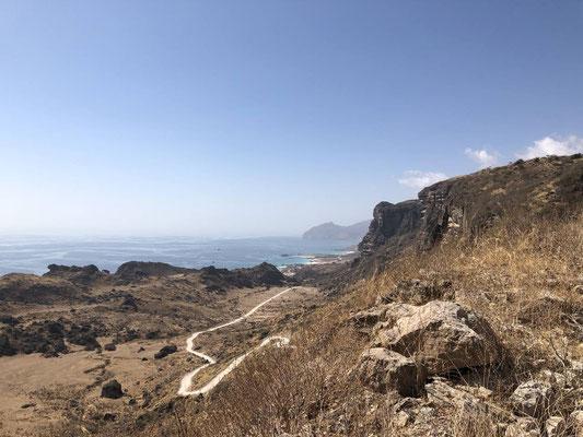 Strecke zum Fazayeh Beach, Oman