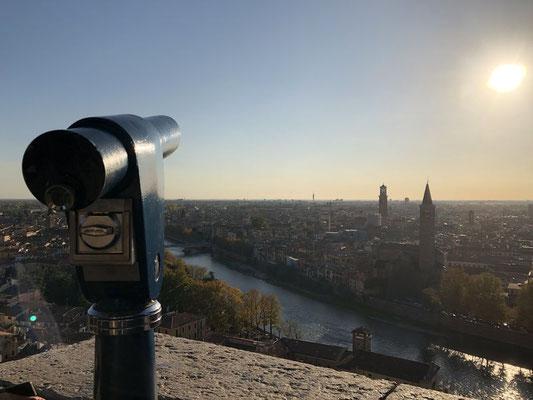 Ausblick über Verona vom Castel San Pietro