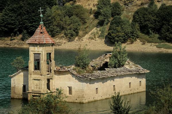 versunkenen Kirche Sv. Nikola