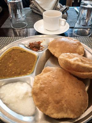 Frühstück in Agra, Indien