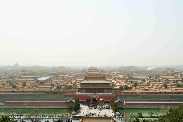 Kohlehügel mit Blick auf die Verbotene Stadt, Peking