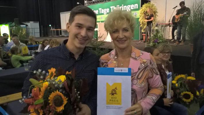 2. Platz des Thüringer Bio-Preis für das beste verarbeite Produkt (09/2016)