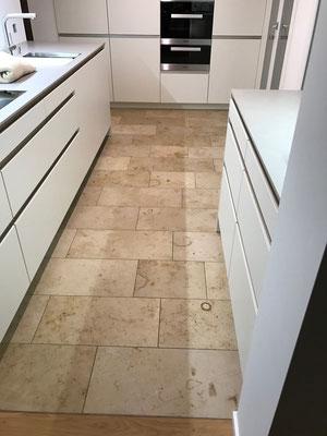 Küchenboden Umbau mit Naturstein Arbon