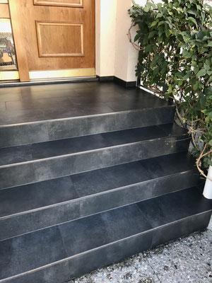 Treppe Keramik mit Epoxidharz Fugen Romanshorn