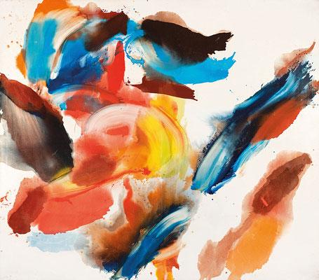 Wolfgang Hollegha o.T., 1974 Öl auf Leinwand 360 x 420 cm