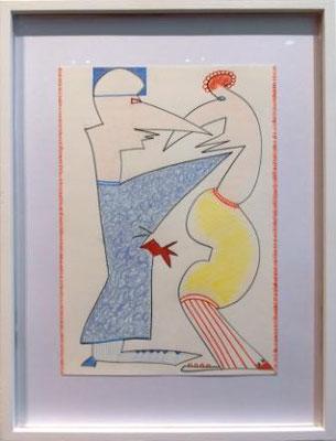 """ANITA MÜNZ, aus der Serie """"Befreiungsbilder"""", Zeichnung, 2019"""