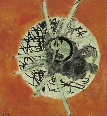 ANDRÉ VERLON, Time, 1961, Montage-Painting/Platte, 72x67cm