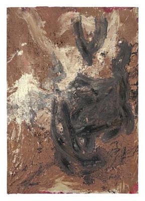 FRANZ GRABMAYR, Tanz, Entstehungszeitraum 1986-1993, Materialbild auf Karton, 103x73cm