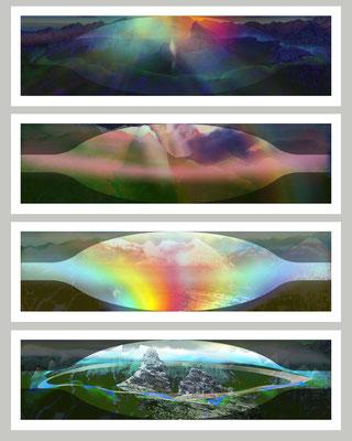 JOHANNES DEUTSCH, aus MANFRED, Live-Cinema Operninszenierung, 2008-2010, Cycle 'Manfred - The mental Landscape', 2009-2010, 4 Works Fujiflex framed, each 38,5x127,5cm - Printdata