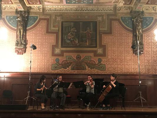 モーツァルト フルート四重奏 リハーサル風景