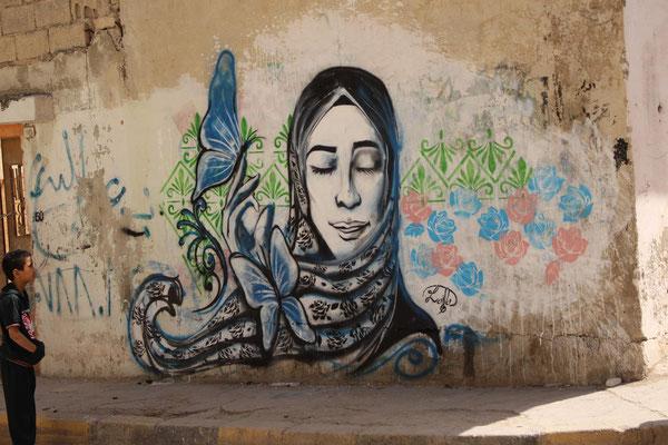 Laila Ajjawi Irbid Jordan Graffiti