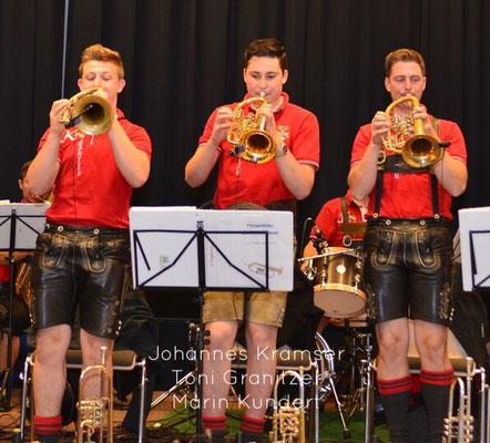 Johannes Kramser (Flügelhorn), Toni Granitzer (Flügelhorn), Martin Kundert (Flügelhorn)
