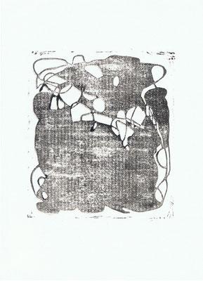 o.T., 21 x 29,7cm, Linoldruck auf Papier