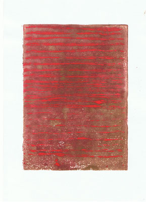 o.T., 2010, 21cm x 29,7cm, Linoldruck auf Papier