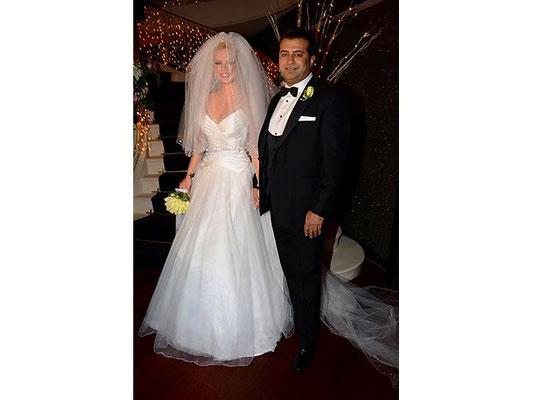 The singer Seda Üren wedding dress