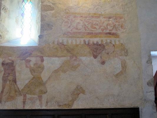 Fresque murale histoire des deux frères, Caïn et Abel
