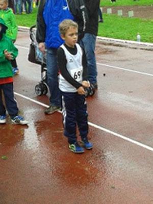 Mattheo beim Wettkampf in Gronau, September 2015