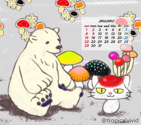 1月配布カレンダー