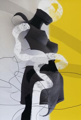 Ohne Titel_SL23a, 2019, pigmentierte Tinte auf Canvas, kaschiert auf Aludibond, 60x40 cm