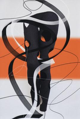 Ohne Titel_SL22b, 2019, pigmentierte Tinte auf Canvas, kaschiert auf Aludibond, 60x40 cm