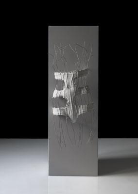 OT_NBS20, 2010, Acryl, Gipsbinde, Aluminiumdraht, 33×83×17 cm