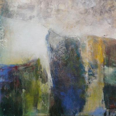 Ein Tropfen verliert sich, Acryl, 80x100