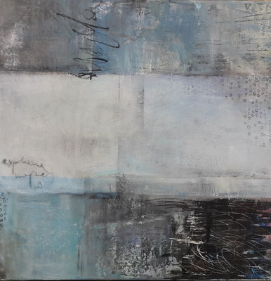 Blue 1, Acryl Mixed Media 60x60