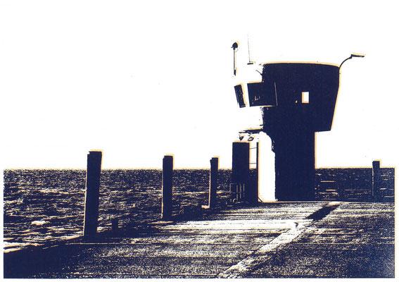 Dagebüller Mole Dunkelblau und Neonorange, 29 x 21 cm