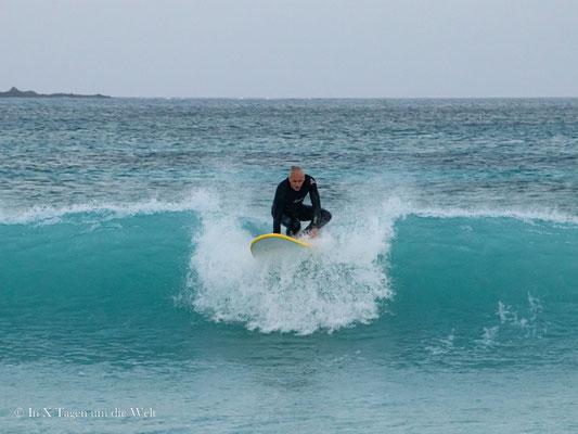 Surfen lernen mit 40
