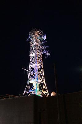 JCV(上越ケーブルビジョン)の電波塔も、このときばかりは桜色の演出