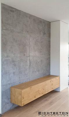 Beton Cire auf Wand
