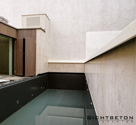 Sanierung Sichtbeton im Farbton 82-40 + weiß (Sandfarben/Beige)